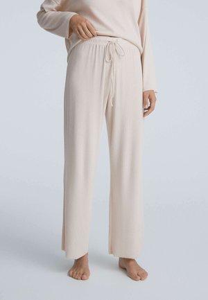 COMFORT RIB - Bas de pyjama - beige