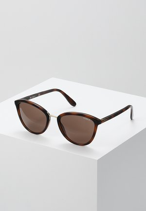 Sunglasses - top havana light brown