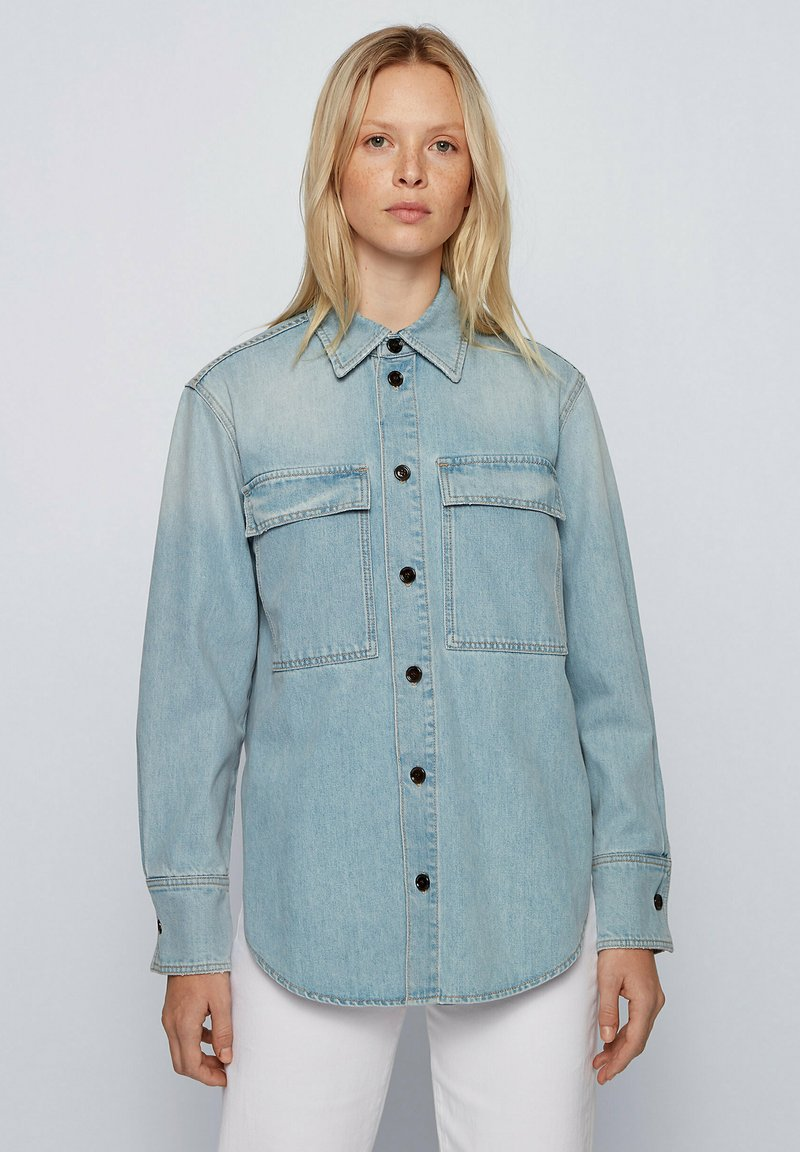 BOSS - Button-down blouse - blue