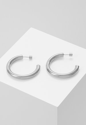BASIC LARGE HOOP EARRINGS - Earrings - silver-coloured