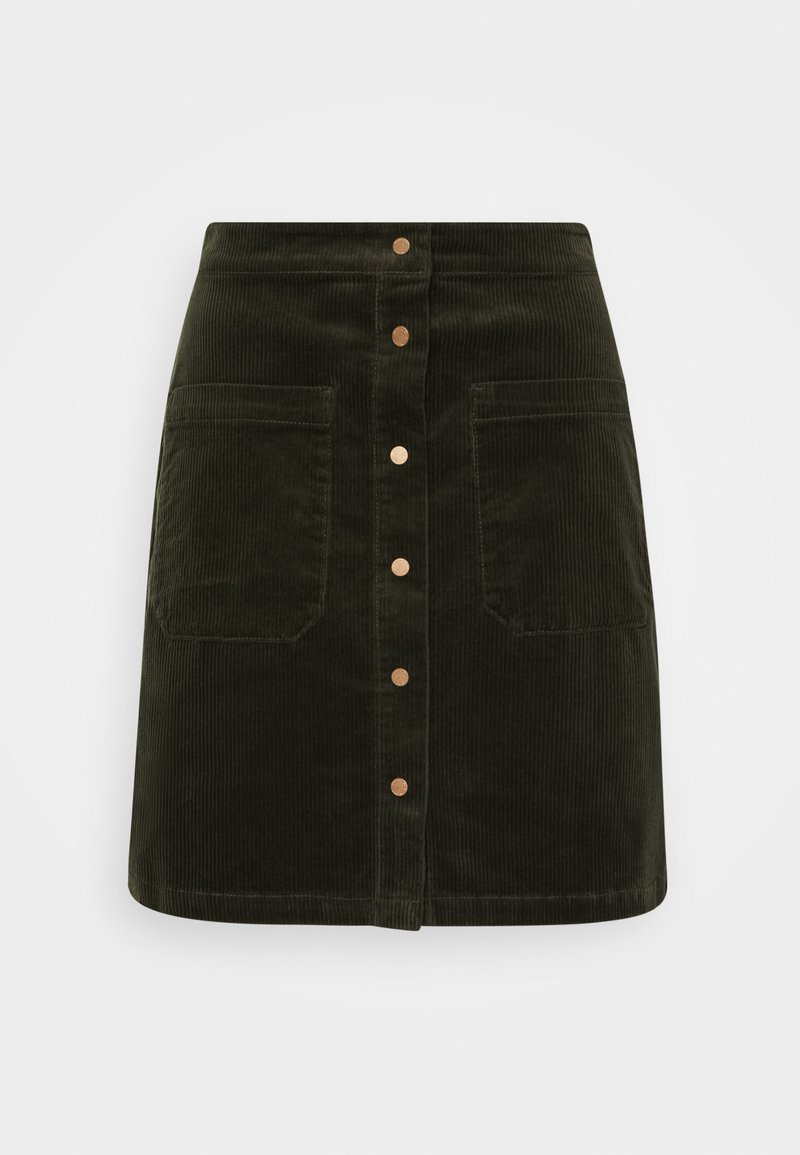 Marc O'Polo DENIM - A-line skirt - utility olive