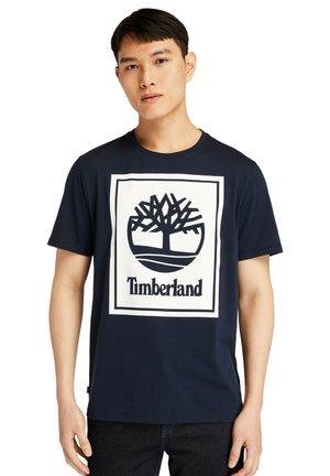 YC CORE SS STACK - T-shirt med print - dark sapphirewhite