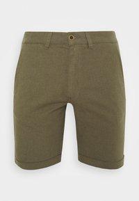 JJILINEN JJCHINO - Shorts - olive night