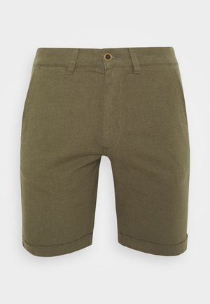 JJILINEN JJCHINO - Shorts - olive night