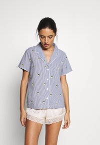 GAP - POPLIN - Pyjama top - light blue/yellow - 1