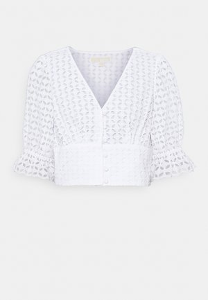 LATTICE EYELET - Blouse - white