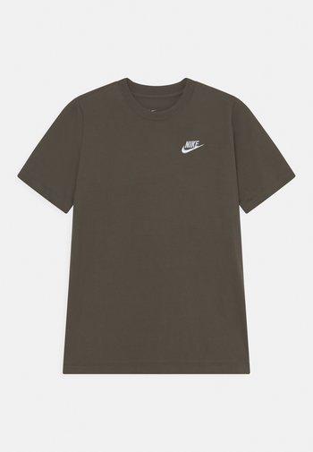 FUTURA TEE  - Basic T-shirt - cargo khaki/white