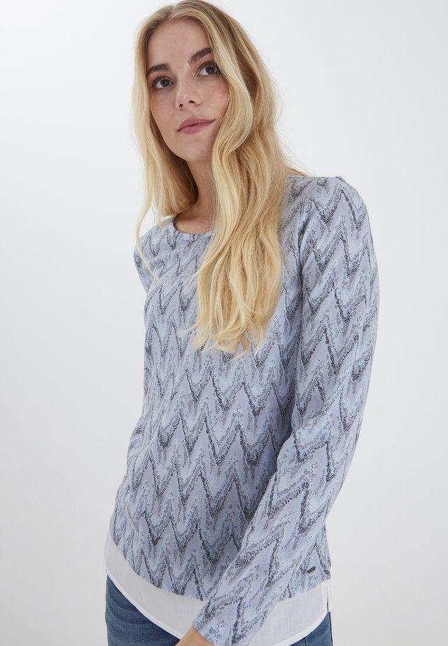 Långärmad tröja - brunnera blue mix