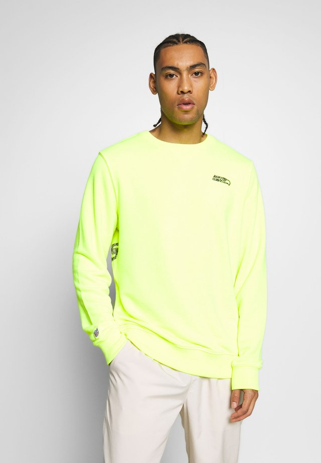 NFL SEATTLE SEAHAWKS CREW - Pelipaita - neon yellow