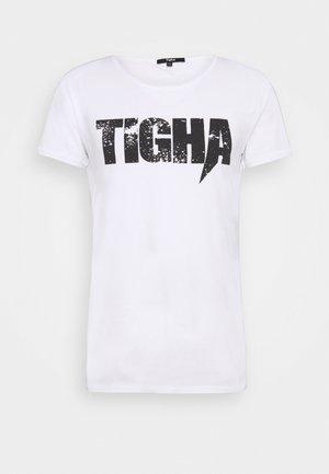 TIGHA LOGO SPLASHES - Print T-shirt - white