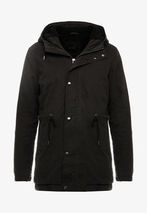UNISEX HOODED PARKA - Parkas - black