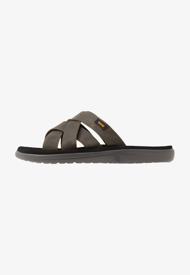 VOYA SLIDE - Outdoorsandalen - dark olive