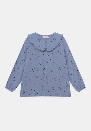 Button-down blouse - milky sky/deep blue