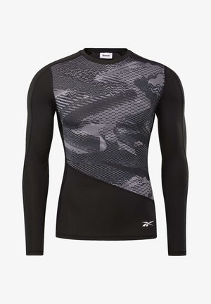 GRAPHIC COMPRESSION TEE - Long sleeved top - black