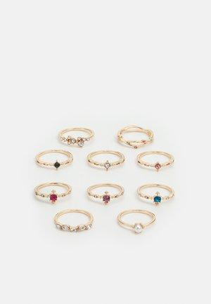 PCKIOA 10 PACK - Ring - gold-coloured/multi