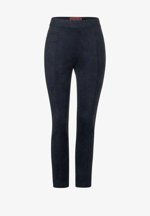 IN VELOURSOPTIK - Leggings - Trousers - blau