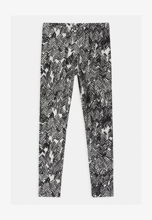 UNISEX - Leggings - gypsum white/black