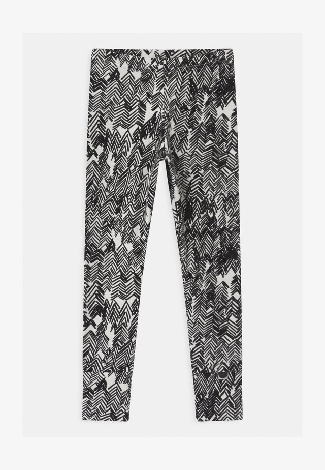 UNISEX - Legging - gypsum white/black