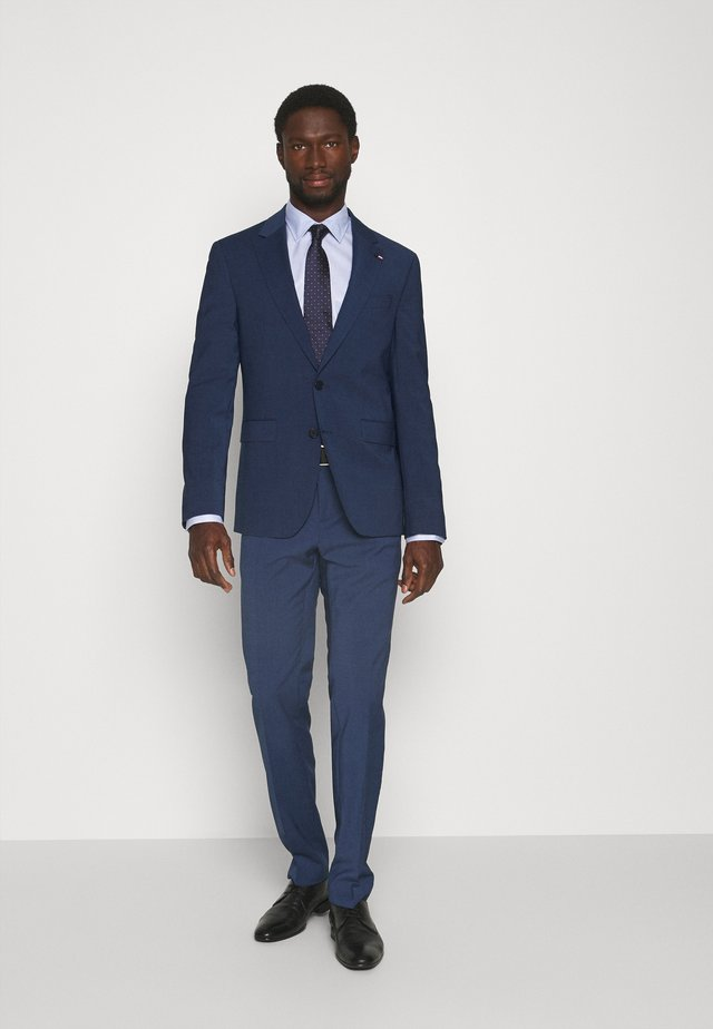 FLEX CHECK SLIM FIT SUIT - Kostuum - blue