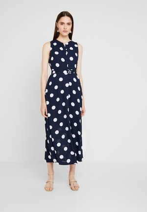 POLKA DOT DRESS - Maxi dress - preppy navy