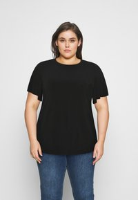 Even&Odd Curvy - T-shirts - black - 0