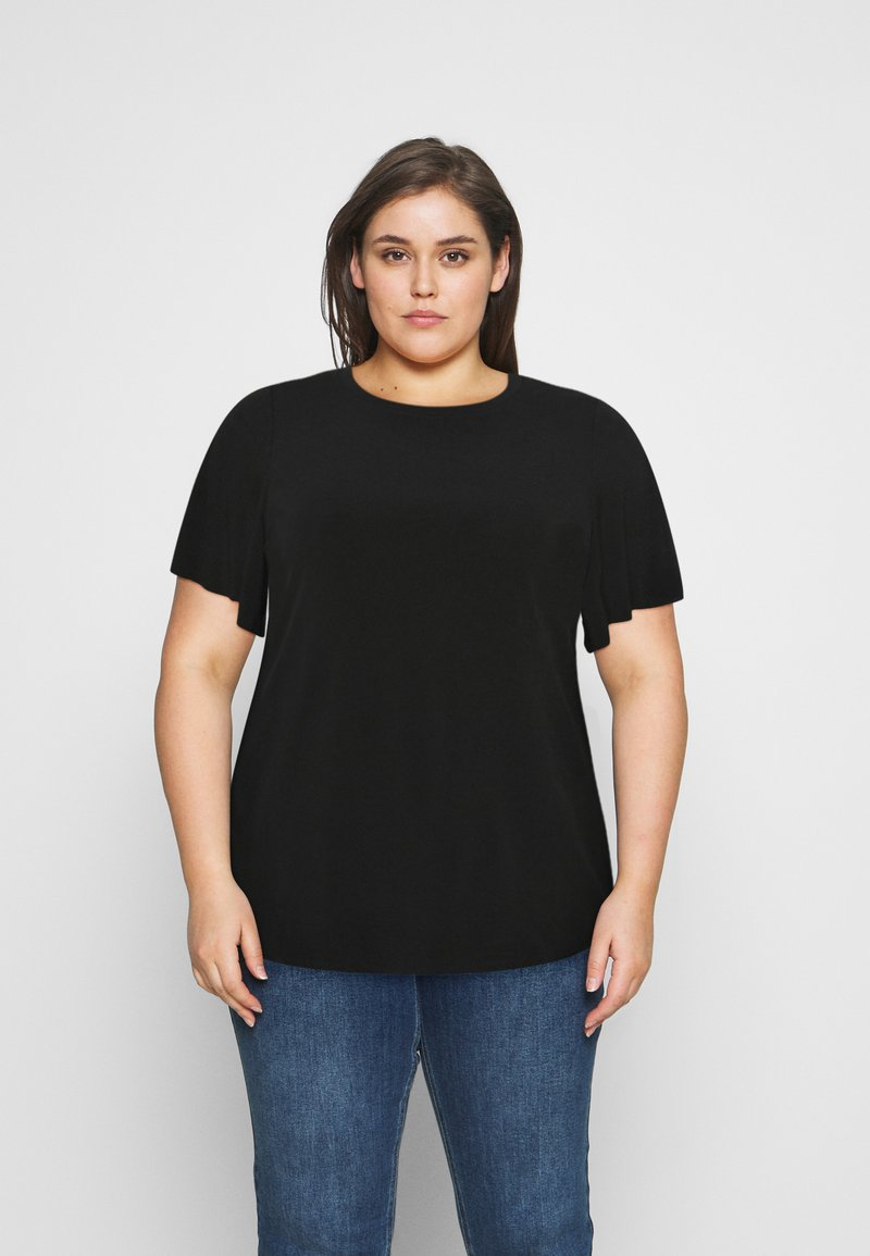 Even&Odd Curvy - T-shirts - black