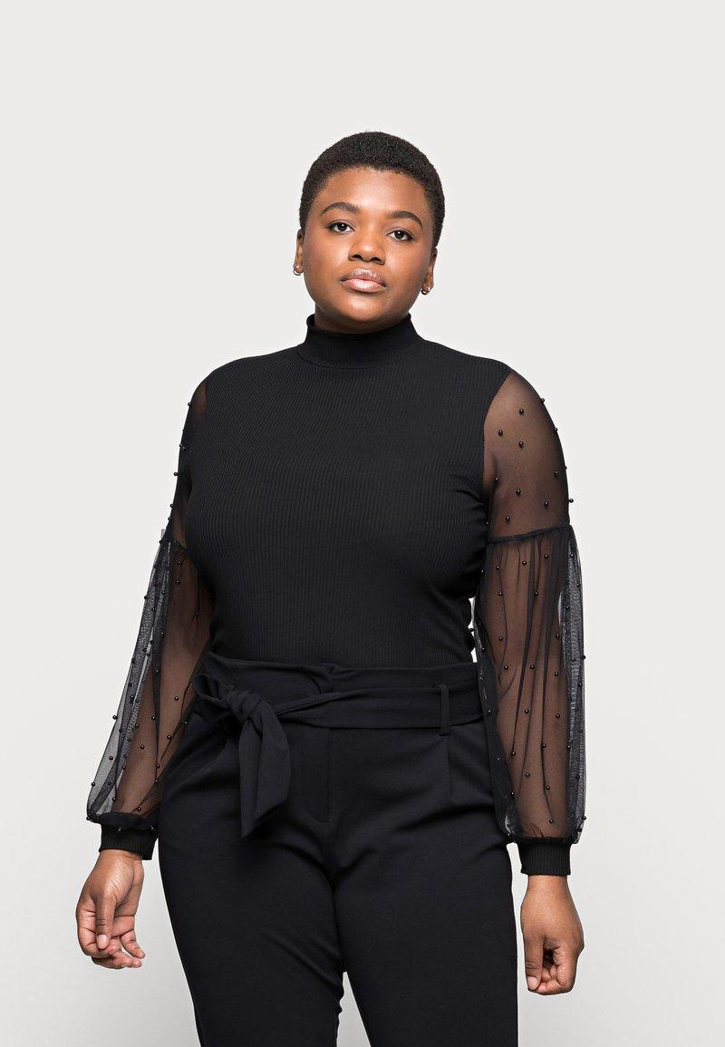 River Island Plus - Long sleeved top - black