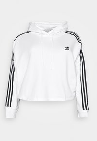 adidas Originals - CROPPED HOOD - Hoodie - white - 4