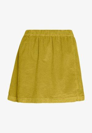 ELASTIC WAIST MINI SKIRT - Mini skirt - neon green