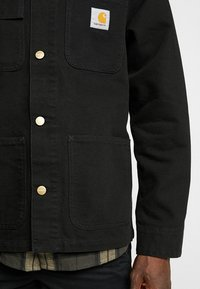 Carhartt WIP - MICHIGAN COAT DEARBORN - Kurtka wiosenna - black rinsed - 5