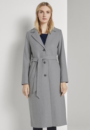 MIT BINDEGÜRTEL - Classic coat - smooth grey melange