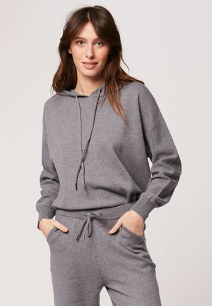 Jersey con capucha - mottled grey