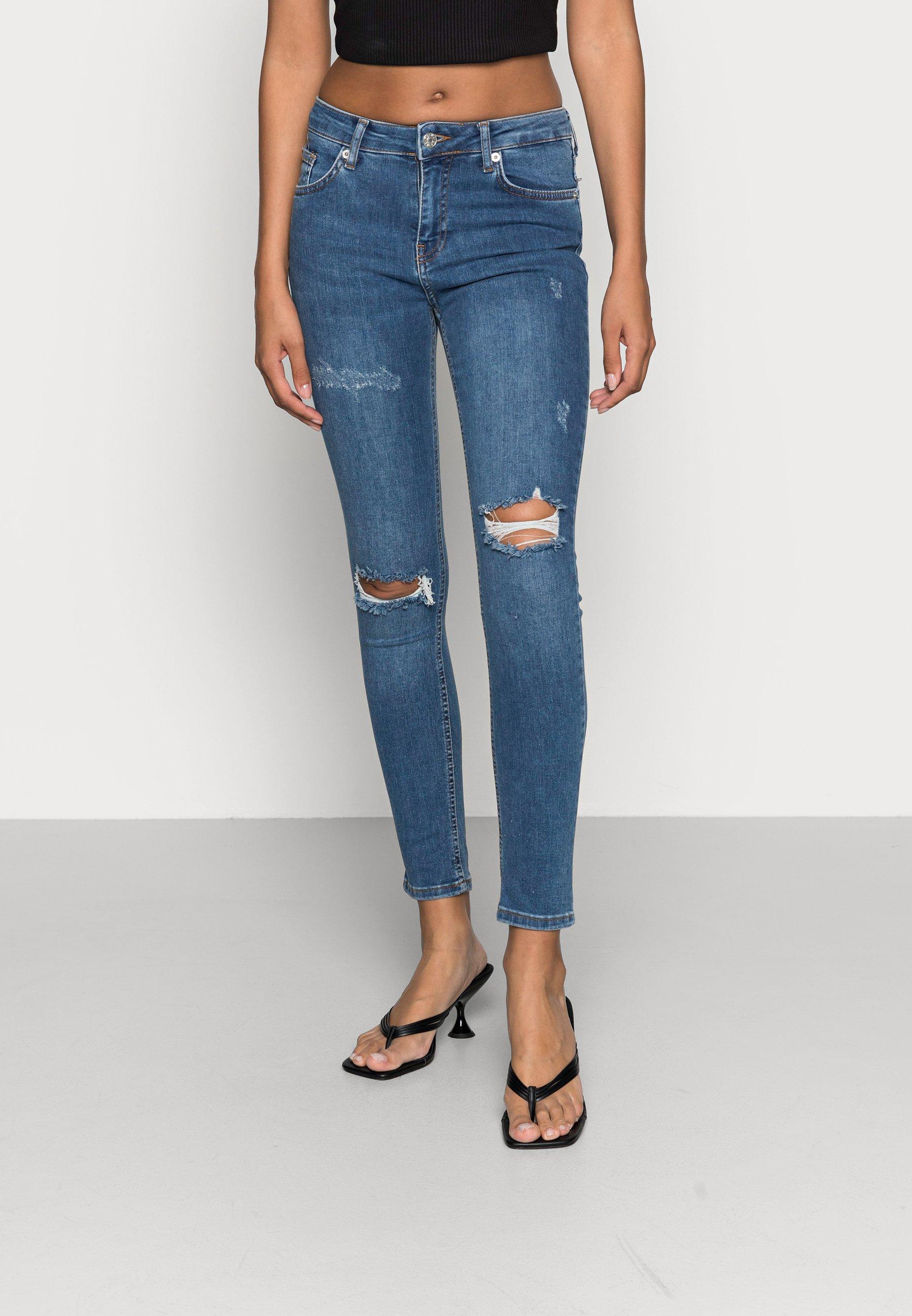 Damen MID WAIST DESTROYED - Jeans Skinny Fit