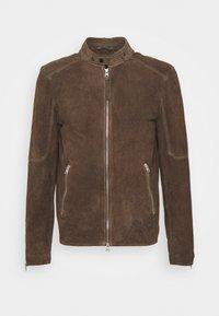GRANTHAM JACKET - Leather jacket - light taupe