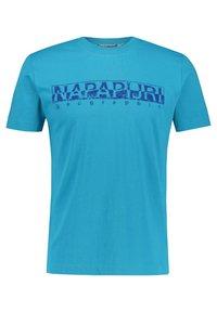 Napapijri - SOLANOS - Print T-shirt - türkis (54) - 0