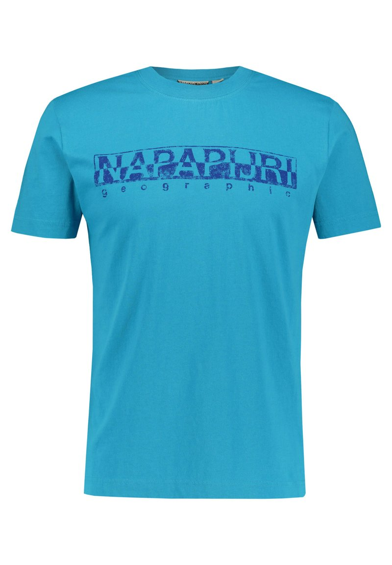 Napapijri - SOLANOS - Print T-shirt - türkis (54)