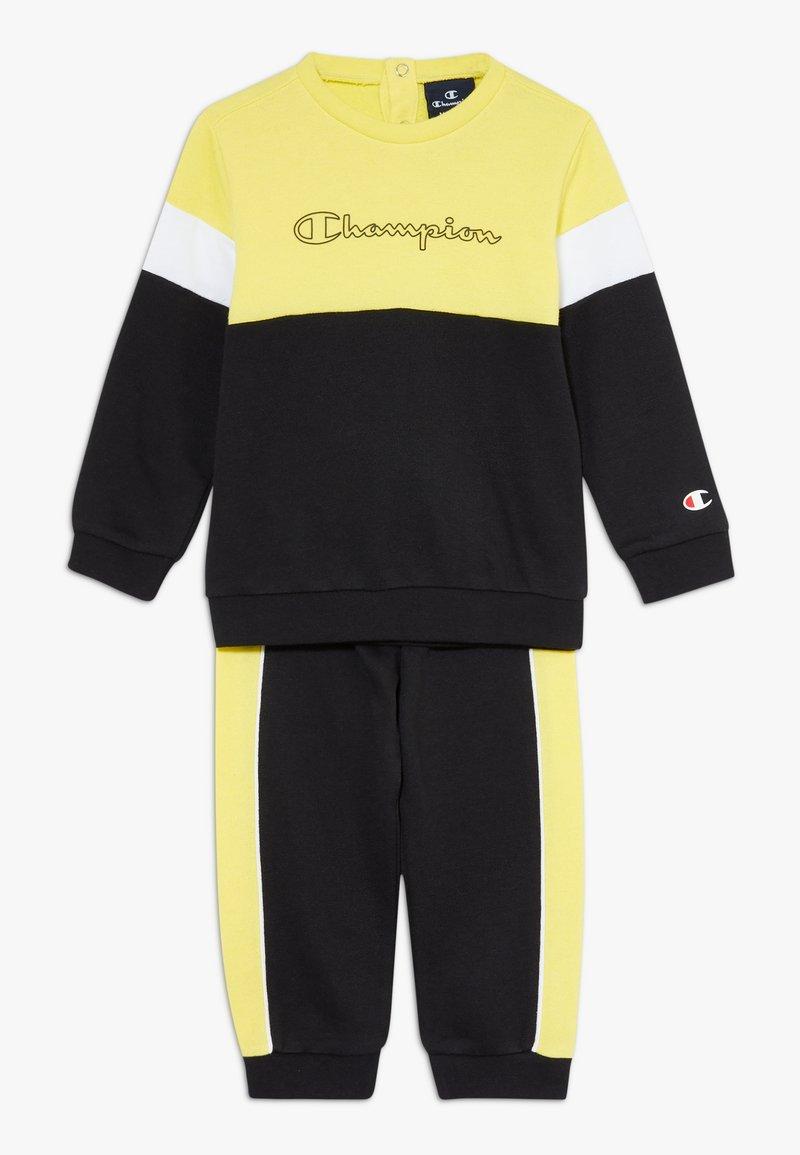 Champion - TODDLER COLORBLOCK SET - Tuta - black/yellow/white