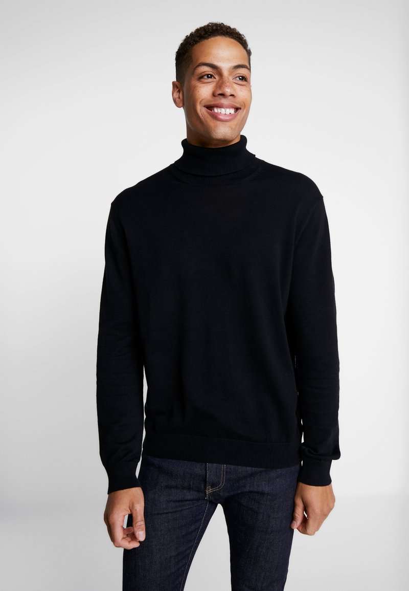 Esprit - ROLLNECK - Jumper - black