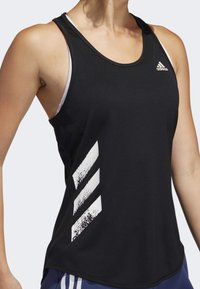 adidas Performance - OWN THE RUN 3-STRIPES PB TANK TOP - Sports shirt - black - 4