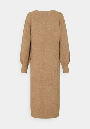DRESS NOOS  - Gebreide jurk - chipmunk melange