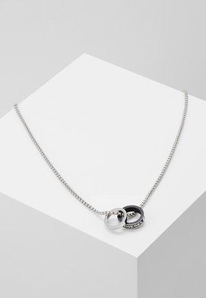 DOUBLE PENDANT - Necklace - black/silver-coloured