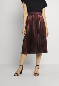 Molly Bracken - LADIES WOVEN SKIRT - A-line skirt - dark red - 0