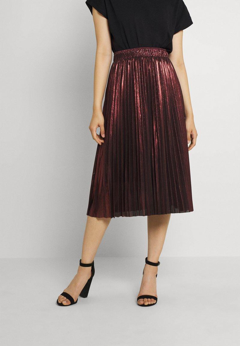 Molly Bracken - LADIES WOVEN SKIRT - A-line skirt - dark red