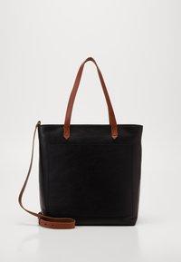 Madewell - MEDIUM TRANSPORT TOTE ZIPPER - Handbag - true black/brown - 1