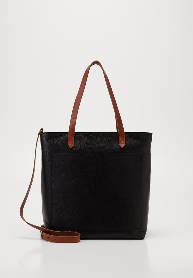 MEDIUM TRANSPORT TOTE ZIPPER - Håndveske - true black/brown