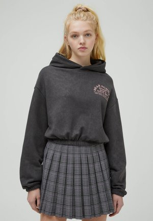Kapuzenpullover - mottled dark grey