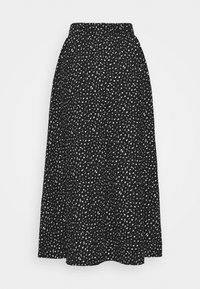 ONLY Petite - ONLZILLE MAXI SKIRT PETIT  - Maxi skirt - black/white ditsy - 1