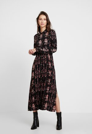 LOUISA DRESS - Skjortekjole - black