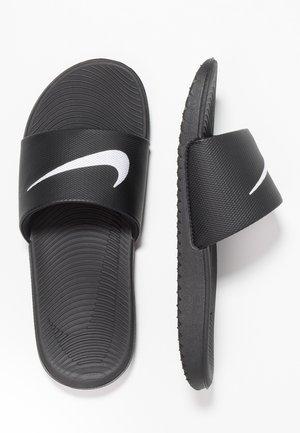 KAWA SLIDE UNISEX - Sandály do bazénu - black/white