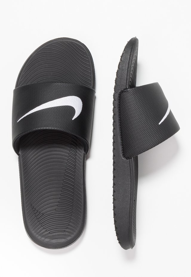 KAWA SLIDE - Badslippers - black/white